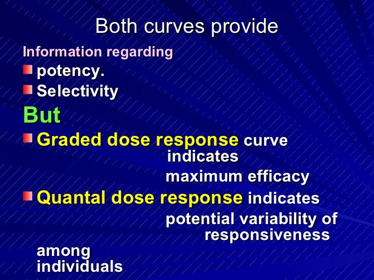 quantal and graded dose response relationship definition