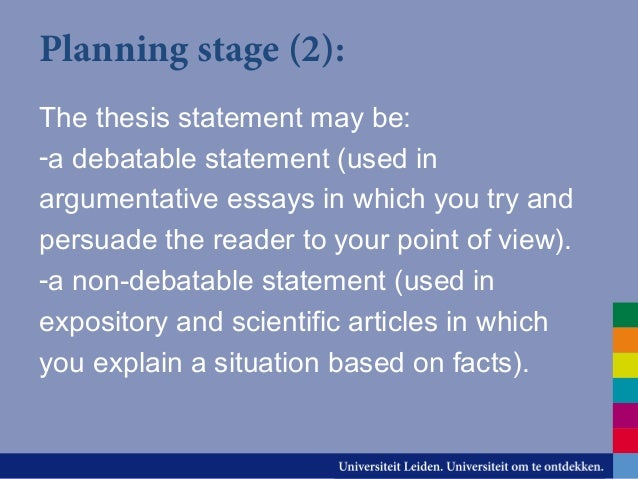 planning stage writing an effective argument In each smaller circle, write a main idea about your topic, or point you want to make if this is persuasive (argumentative) essay, then write down your arguments if the object of the essay is to explain a process (expository), then write down a step in each circle if your essay is intended to be informative or explain (analytical),.