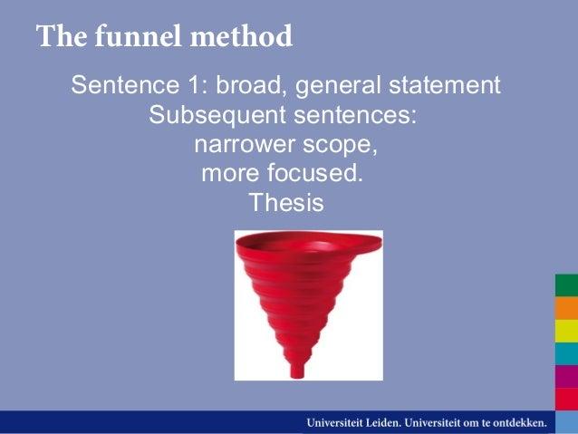 Essay writing funnel method