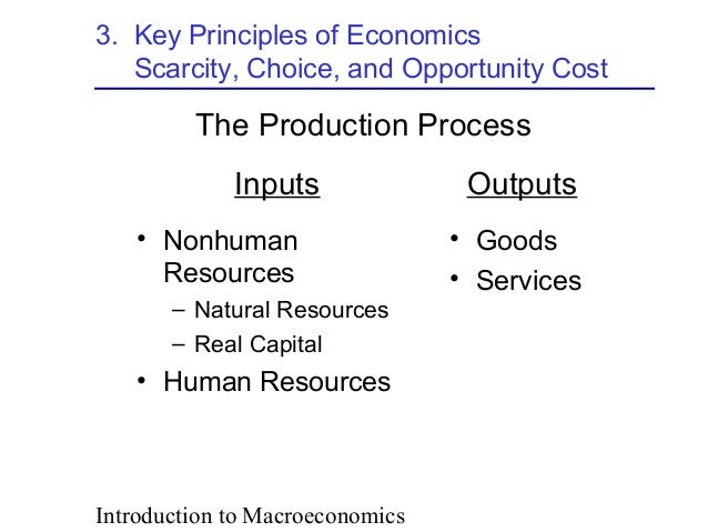 relationship between scarcity choice and opportunity cost in managerial economics