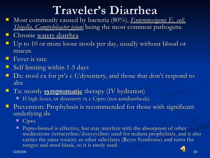 Traveler S Diarrhea Is Caused By