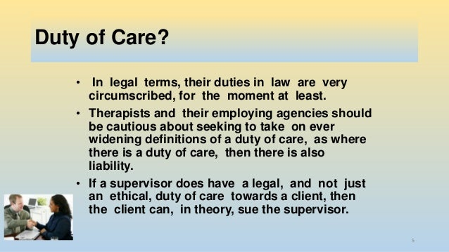 the common law duty of care