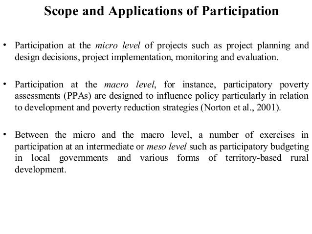 Participatory approaches to rural development