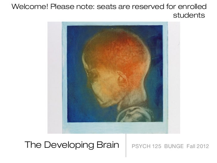 Welcome! Please note: seats are reserved for enrolled                                           students   The Developing ...
