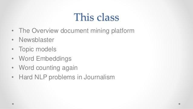 Frontiers of Computational Journalism week 2 - Text Analysis Slide 2