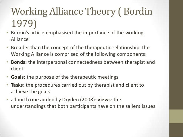the therapeutic alliance 206 l n johnson et al 1991 martin, garske, & davis, 2000) a third meta-analysis of 27 studies attributed treatment effectiveness to general factors such as the therapeutic.