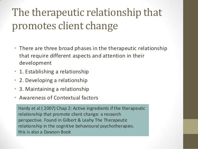 therapeutic alliance theory