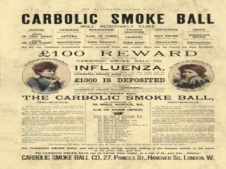 Carlill v Carbolic Smoke Ball Co