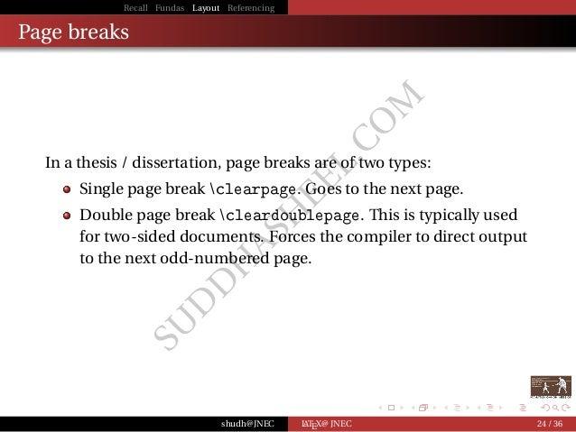 Phd thesis typesetting