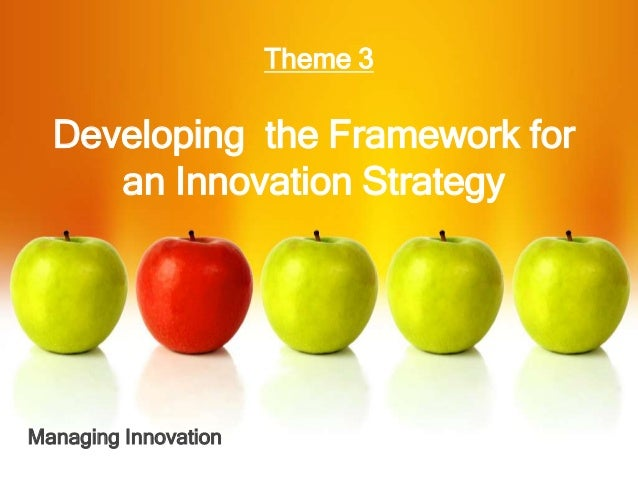 2016 - Developang the Framework for an Innovation Strategy