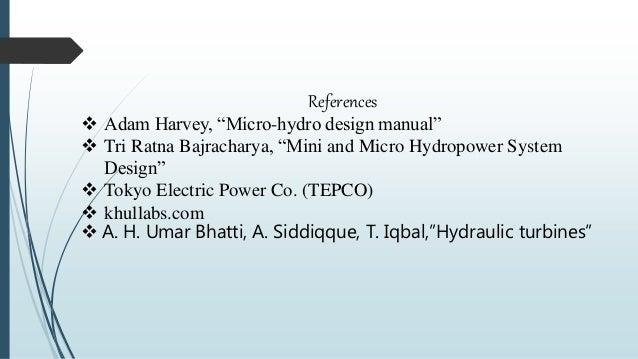 micro hydro design manual adam harvey