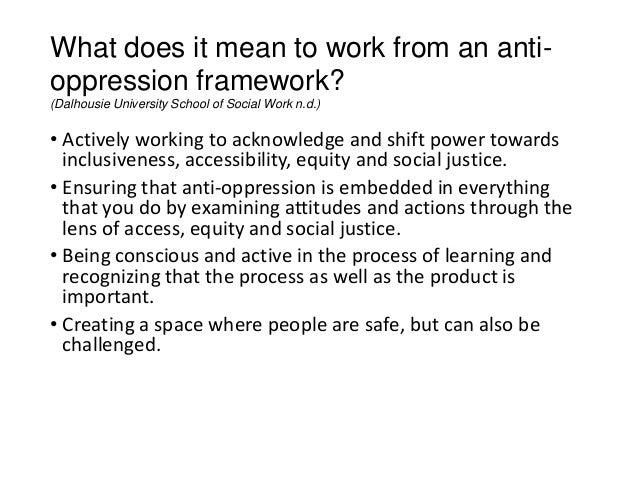 what is anti oppressive practice