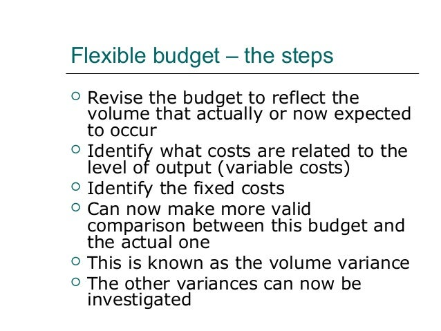 budgetary control and variance analysis The area of standard setting is one aspects of budgetary control that management accountants express  variance analysis when used properly and correctly is a .