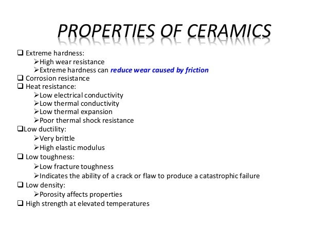 electrical properties of ceramic materials Ceramics possess chemical, mechanical, physical, thermal, electrical, and magnetic properties that distinguish them from other materials, such as metals and plastics manufacturers customize.