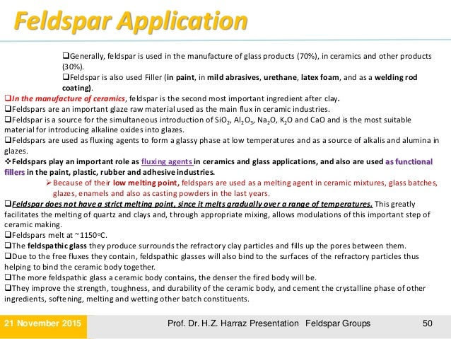 Lecture 3 Feldspar Group And Its Application