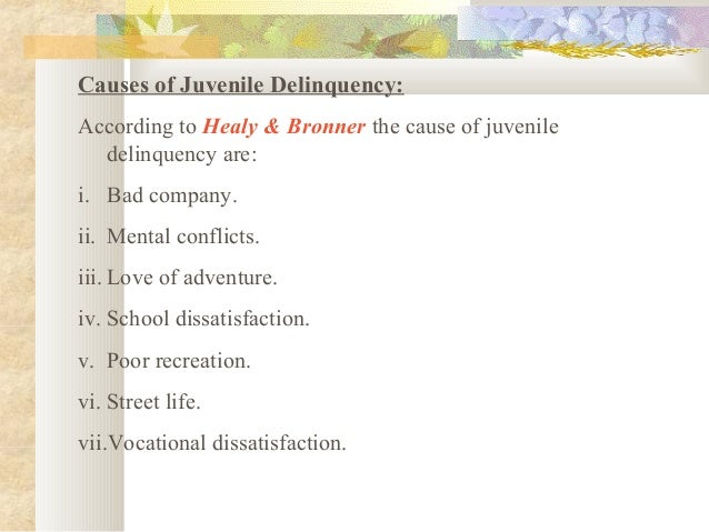 the main causes of juvenile delinquency The office of juvenile justice and delinquency prevention (ojjdp), part of the us department of justice, office of justice programs, assists local community endeavors to effectively avert and react to juvenile delinquency and victimization.