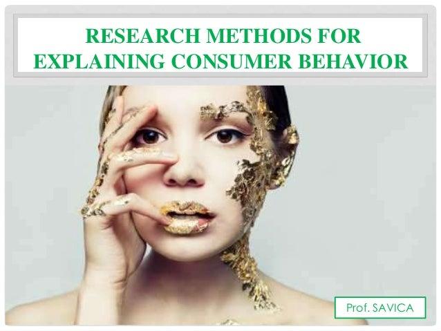 Consumer behavior research methods