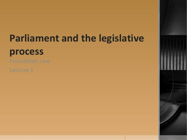 legislative process 1 The legislative process is a matter about which every person should be well informed in order to understand and appreciate the work of congress it is hoped that this guide will enable readers to gain a greater understanding of the federal legislative process and its role as one of the foundations of our representative system.