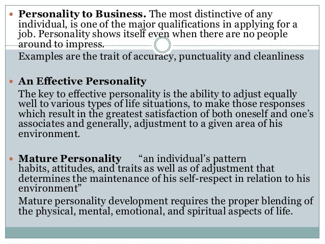 Traits Of A Mature Person