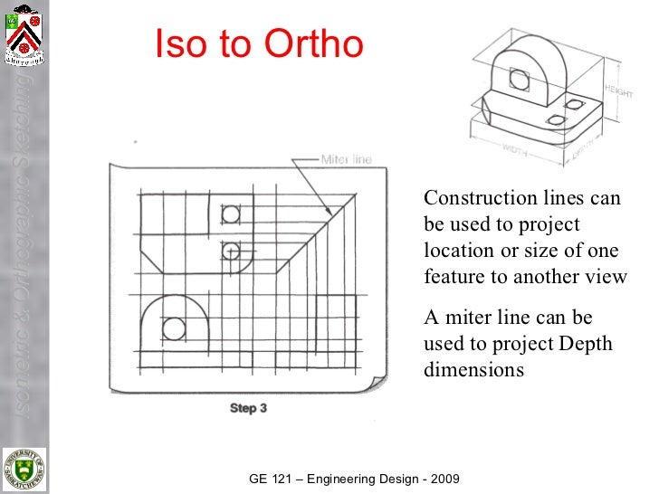 Iso to Ortho Isometric & Orthographic Sketching                                                                           ...