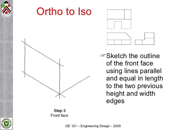 Ortho to Iso Isometric & Orthographic Sketching                                                                     Sketc...