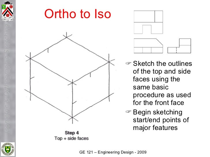 Ortho to Iso Isometric & Orthographic Sketching                                                                        Sk...