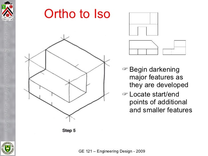 Ortho to Iso Isometric & Orthographic Sketching                                                                       Beg...