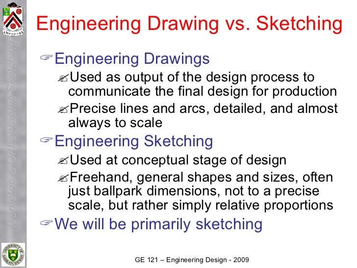 Engineering Drawing vs. Sketching Isometric & Orthographic Sketching                                         Engineering ...