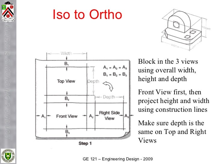 Iso to Ortho Isometric & Orthographic Sketching                                                                         Bl...