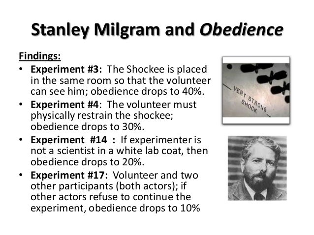 the social experiment by stanley milgram the milgrams hypothesis Stanley milgram was an american psychologist perhaps best remembered for his infamous obedience experiment stanley milgram was a social psychologist best-remembered for his now infamous obedience experiments the small world experiment early life stanley milgram was born on august 15.