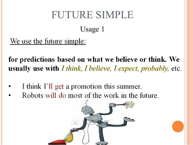 use of future simple