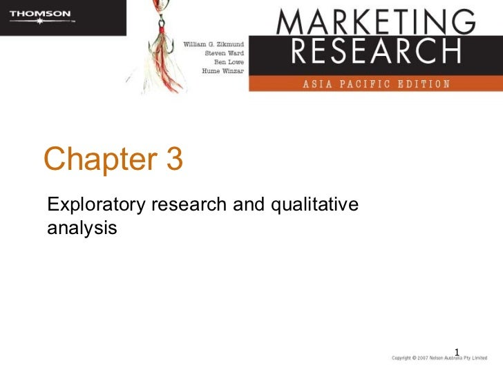 Chapter 3Exploratory research and qualitativeanalysis                                       1