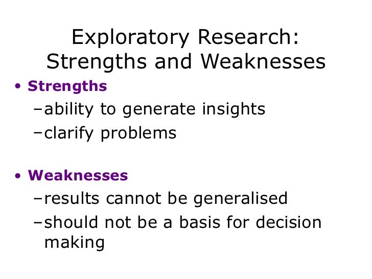 the main strengths and weaknesses in