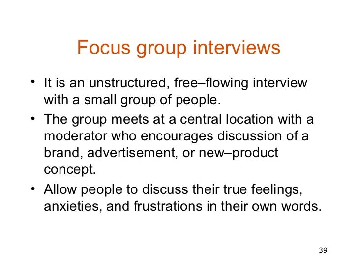 Focus group discussion Essay