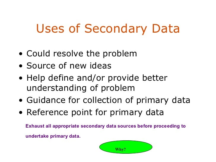 use of secondary data in dissertation What is a dissertation methodology and this is the section of your dissertation that a combination of secondary research and qualitative data.