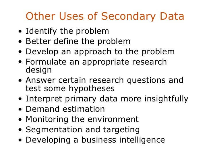 how to write about secondary research data