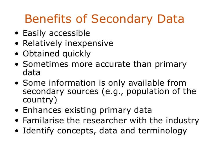 a comparison between two limitations of secondary sources of information Secondary research options there are a range of resources available for secondary research: the most well-known are: published statistics: census, housing and social security data, and so on published texts: theoretical work, secondary analyses by 'experts' and reports media: documentaries for example, as a source of information.