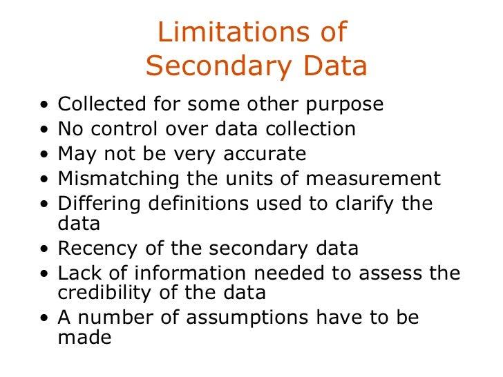 Methodology dissertation secondary data limitations