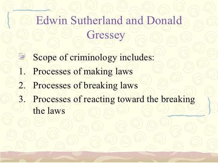 what is criminology course