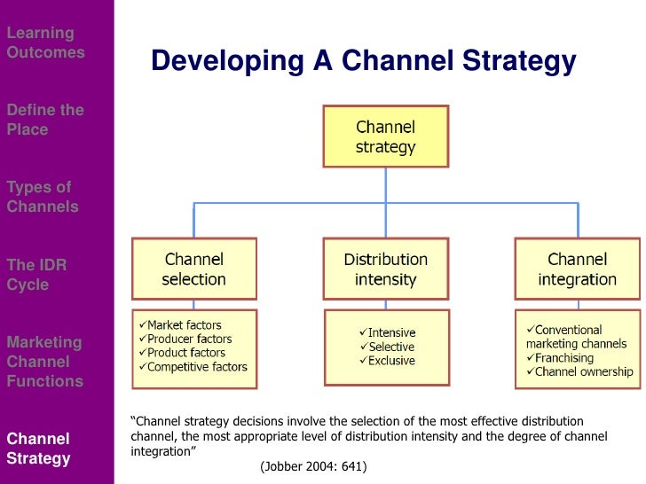 distribution channel conventional distribution channel and