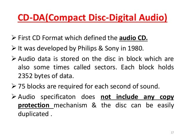 cd and its standards