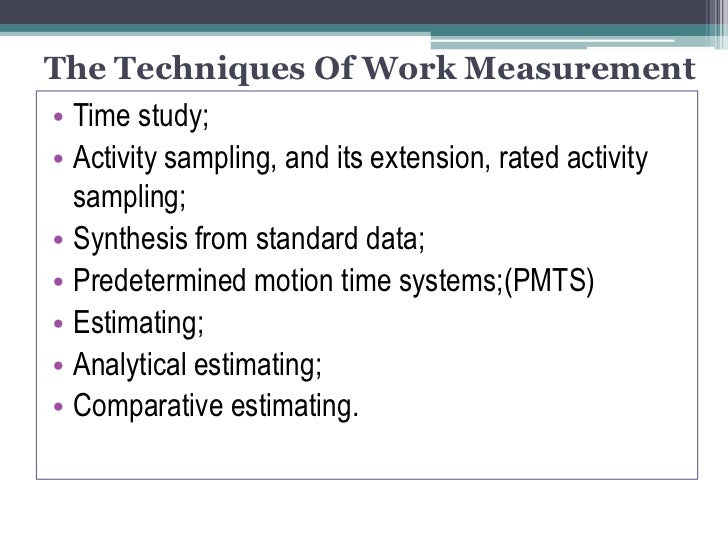 How to Do a Time Study in Manufacturing | Work Sampling vs ...