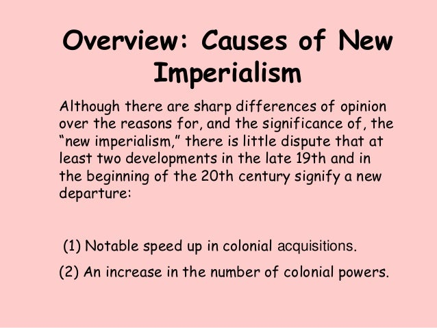 An analysis of the imperialism and expansion in 20th century