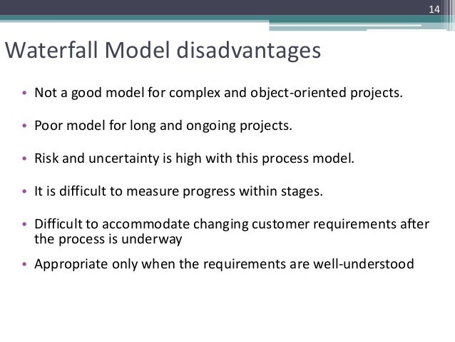 Process models for Waterfall methodology definition
