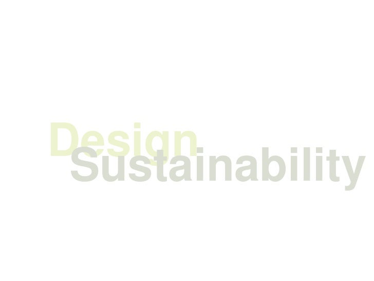 Design Sustainability