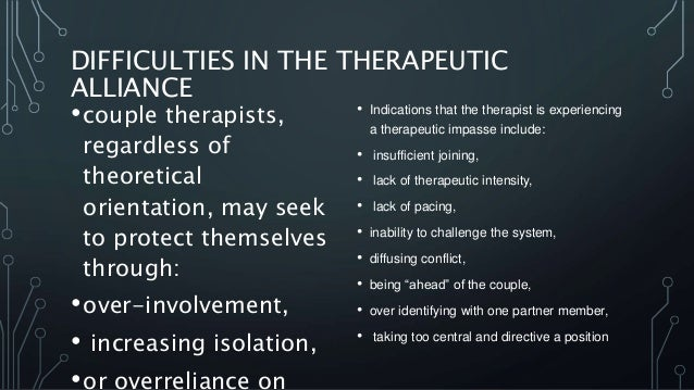 therapeutic relationship in therapy