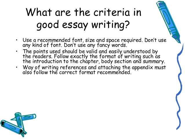correct format for an essay
