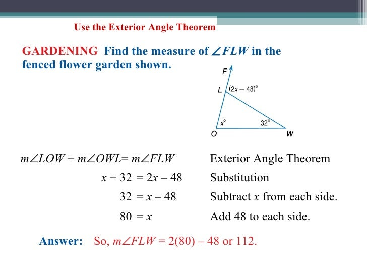 Lecture 4 1 4 2 - How to do exterior angle theorem ...