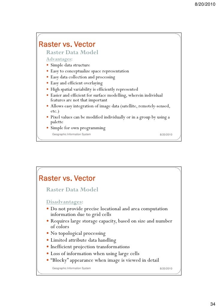 Vector processing vs raster processing