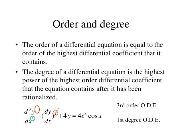 Higher Differential Equation